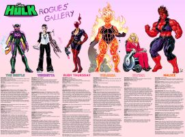 She-Hulk Rogues' Gallery commission by Jebriodo