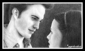 Edward and Bella - Twilight by pepperbunbun
