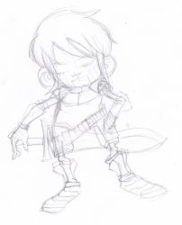 Chibi Swordman Sketch by iEzQaNDaR