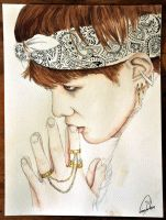 BTS: Suga (Art trade) by TheCorinna
