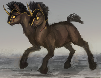 MLP TWO HEADED pony auction 51 CLOSED by ElkaArt