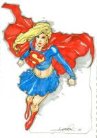 Supergirl Color Sketch by aaronlopresti