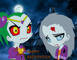 Halloween with clowns by GrimaceJester
