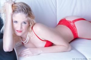 Red Lingerie by grixpix