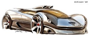 Concept car sketch 3 by Rykunov