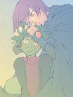 +Hold+ Beastboy x Raven by dou-hong