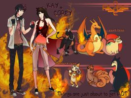 Kay + Corey Ref Sheet by Ember-of-Flame