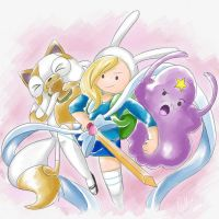 Adventure Time with Fionna and Cake by PokeSonFanGirl