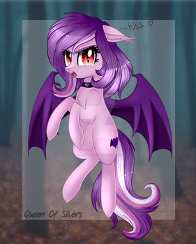[C] Violet Rose Bat by QueenOfSilvers
