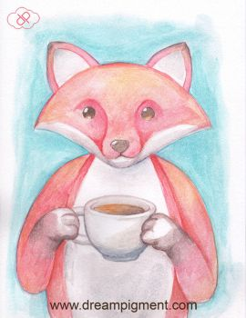 Coffee Fox by DreamPigment