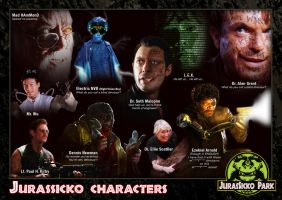 04 The Jurassicko Characters by LDN-RDNT