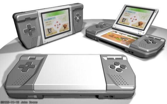 Nintendo DS Redesign Concept by laserbeams