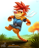 Daily Painting 1726# Chrono Tigger by Cryptid-Creations