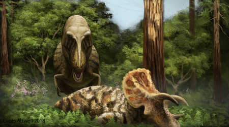 Tyrannosaurus and Triceratops by Lucas-Attwell