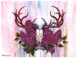 Elk and Lilac by Kiriska