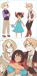 APH FACES family by Patynotchan