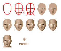 Pixel Face Tutorial by Zanaril