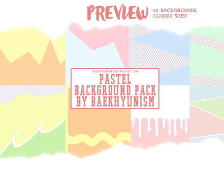 Pastel Background Pack By Baekhyunism by baekhyunism