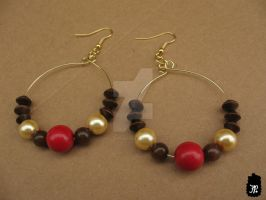Cherry Garcia Beaded Earrings by TheFuzzyPineapple