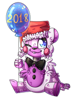 :Helpy ready for New Year: by SoundwavePie