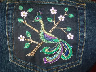 Peacock and Blossoms by Ramira
