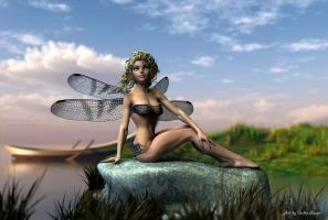 Dragonfly Fairy by sandrabauser