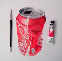 Coke can cruched by zingfried