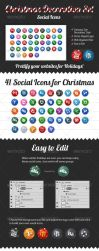 Christmas Decoration Set - Social Icons by Rukamiby