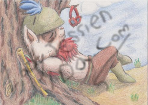 Teemo at rest by ladyjessien