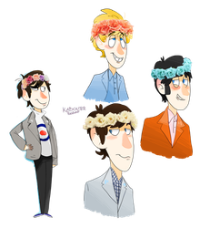 The Who and Flower Crowns by KabouterPollewop