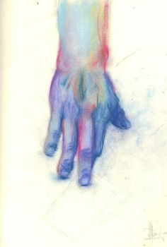 Hand in pastels by Blacksheep0