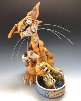 Jasper the Cat - Ceramic Sculpture by Lucykite