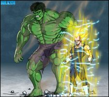 Hulk team up with Vegeta by DBZwarrior