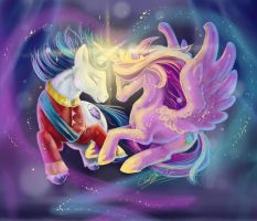 Cadence and Shining Armor by SilverFlight