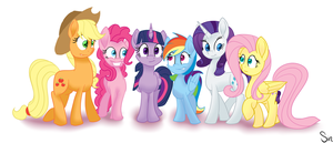 The Mane Six by Sintakhra