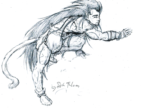 Barbarian Raditz by DarkFalcon-Z