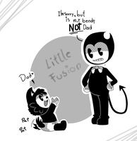 it's m.r bendy not dad-BATIM little fusion by Lou-pandita