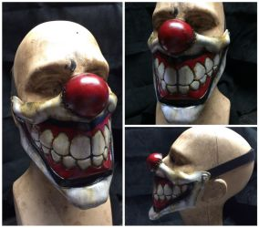 Leather sweet tooth Clown Mask by Skinz-N-Hydez