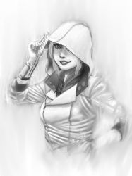 Modern Assassin -greyscale ver- by Kissakisan