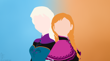 Elsa and Anna by RikiTheSuperZeldaFan
