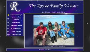 Roscoe Family Website by Gingitsune-Lady-Fox