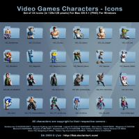 Video Games Characters - Icons by iFab