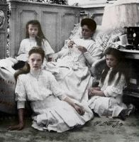 Empress and Grand Duchesses in 1908 by Linnea-Rose
