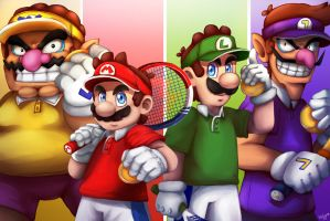 Mario tennis Aces by LC-Holy