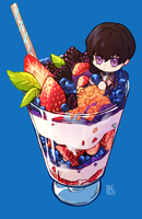 [AT] parfait with weird space jelly (+ TIMELAPSE) by Ikeela