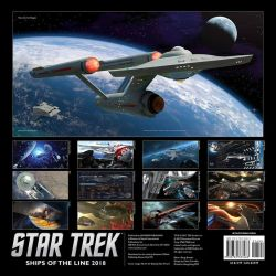 2018 Ships of the Line Star Trek Calendar by Casperium