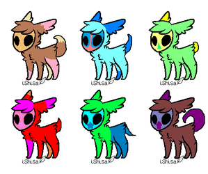 Skull Fuzzy Adopts (OPEN 6/6) by HarryTheRipper