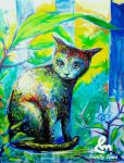 Cat painting part 2  by TrinityScars