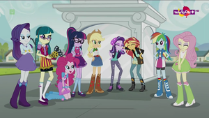 The Equestria girls laughing by Gouhlsrule