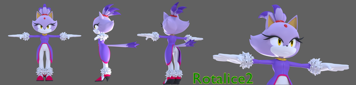 Blaze the cat WiP for the let's make series by Rotalice2